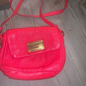 Marc by Marc Jacobs bright pink crossbody purse
